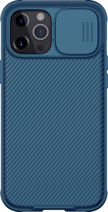 Husa Magnetica protectie spate si camera foto albastru pentru Apple iPhone 12 Mini 5.4 Nillkin CamShield Pro Case