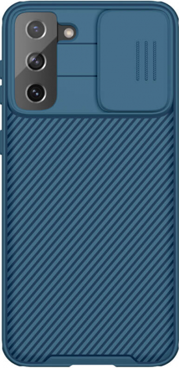 Husa protectie spate si camera foto albastru pentru Samsung Galaxy S21 Plus 5G Nillkin CamShield Pro