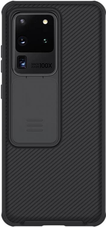 Husa protectie spate si camera foto negru pentru Samsung Galaxy S20 Ultra Nillkin CamShield Pro