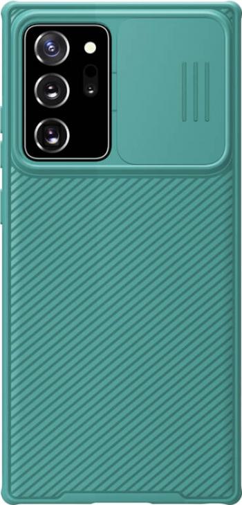 Husa protectie spate si camera foto verde deschis pentru Samsung Galaxy Note 20 Nillkin CamShield