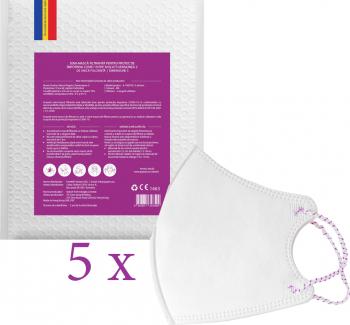 Set 5 Masti Protectie Copii FFP2 si FFP3 nivel filtrare. Protectie COVID-19. Certificate CE. Masca Parpiro