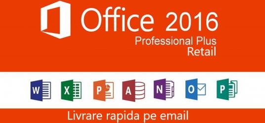 Office 2016 Pro Plus licenta permanenta all languages p fizice si juridice