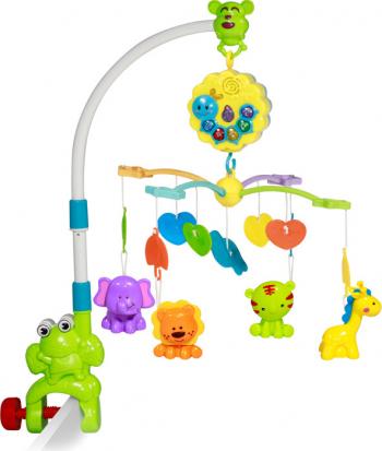 Carusel electric muzical Bell Broscuta pentru patut multicolor