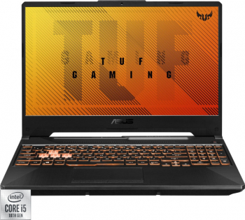 Laptop Gaming ASUS TUF F15 FX506LH Intel Core (10th Gen) i5-10300H 512GB SSD 8GB Geforce GTX 1650 4GB FullHD 144Hz RGB Bonfire Black