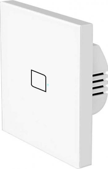 Intrerupator Inteligent Broadlink TC3-1 simplu cu touch wi-fi alb Prize si intrerupatoare inteligente