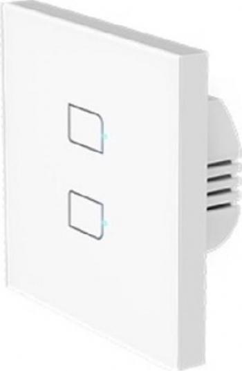 Intrerupator Inteligent Broadlink TC3-2 cu doua butoane touch wi-fi alb Prize si intrerupatoare inteligente