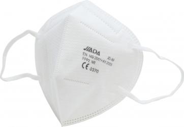 Set 50 masti Jiada FFP2 5 straturi BFE95 alb ambalare individuala Masti chirurgicale si reutilizabile