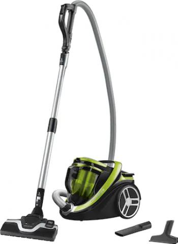 Aspirator fara sac Rowenta Silence Force Monocyclonic 4A+ RO7612EA 550 W Perie de aspirare Power Air Verde/Negru