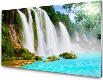 Panou antistropi bucatarie sticla securizata model Cascada splendida 600x600 mm Placi decorative