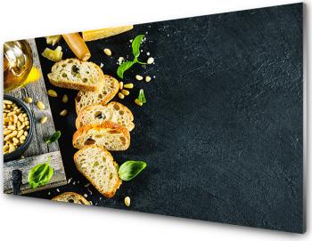 Panou antistropi bucatarie sticla securizata model Cheese Backgorund 600x500 mm Placi decorative