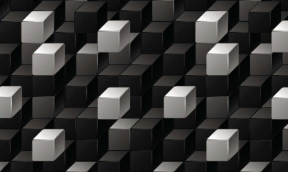 Panou bucatarie protectie plita aragaz antistropire print UV model Abstract Cuburi Alb Negre 1000x500 mm Placi decorative