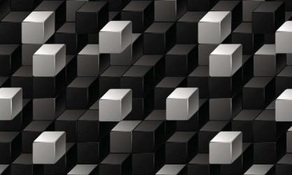 Panou bucatarie protectie plita aragaz antistropire print UV model Abstract Cuburi Alb Negre 600x500 mm