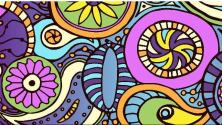 Panou bucatarie protectie plita aragaz antistropire print UV model Abstract Tatuaj MultiColor 600x500 mm