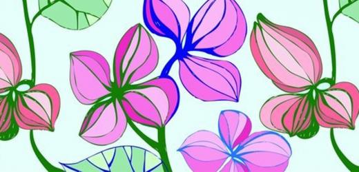 Panou bucatarie protectie plita aragaz antistropire print UV model Desen cu Flori 600x500 mm