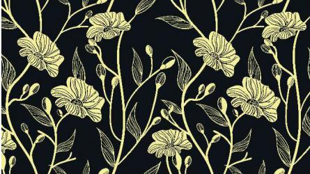 Panou bucatarie protectie plita aragaz antistropire print UV model Flori Fundal Inchis 1200x600 mm Placi decorative
