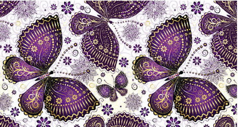 Panou bucatarie protectie plita aragaz antistropire print UV model Fluturi Mov Decorati 600x500 mm
