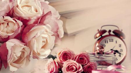 Panou bucatarie protectie plita aragaz antistropire print UV model Trandafiri Roz si Violet 600x500 mm