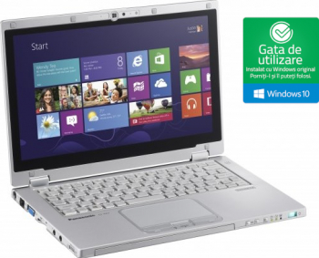 Laptop Panasonic i5-4300Uup to 2.90GHz 4GB DDR3 128GB SSD 12.5inch Touchscreen Webcam Win10 Home Refurbished Laptopuri Renew & Refurbished