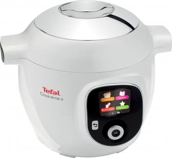 Multicooker Tefal Cook4Me+ CY851130 6 L 2000 W 6 programe 150 retete Reincalzire Abur Gatire sub presiune Alb