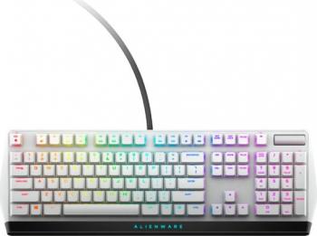 Tastatura Mecanica Gaming Dell Alienware AW510K Low Profile RGB USB Lunar Light