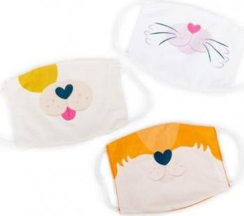 Set 3 masti pentru copii - Catel pisica si vulpe