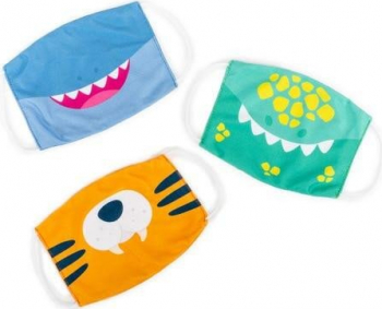 Set 3 masti pentru copii - Dinozaur tigru si rechin