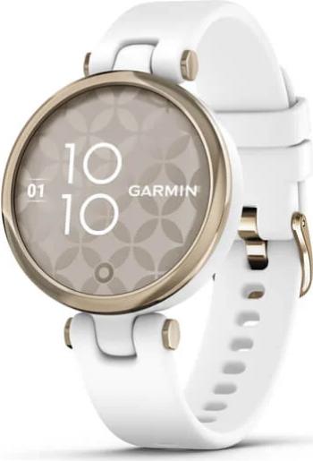 Smartwatch Garmin Lily 1inch Curea Silicon Cream Gold-White