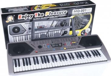 Orga electronica MQ-001UF cu 61 clape USB MP3 Radio Fm si Microfon inclus