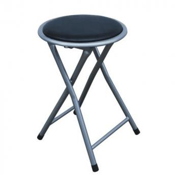 Taburet pliabil/scaun negru IRMA