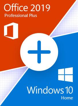 Windows 10 Home + Office Pro Plus 2019 - Retail permanente - 3264 bit - toate limbile + tutorial video si asistenta