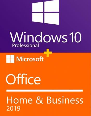 Windows 10 Pro RETAIL transferabil + Office Home and Business 2019 - permanente - 32/64 biti + video tutorial / asistenta