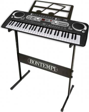 Orga electronica semiprofesionala cu 54 de clape digitale Bontempi si suport metalic