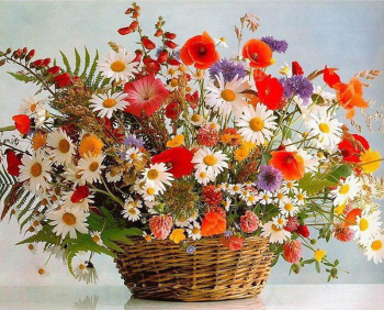 Set pictura pe numere Cosulet cu floricele Tablouri