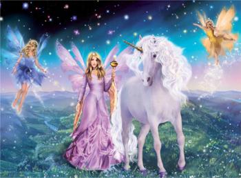 Set pictura pe numere Tablou Zane si prietenul Unicorn Tablouri
