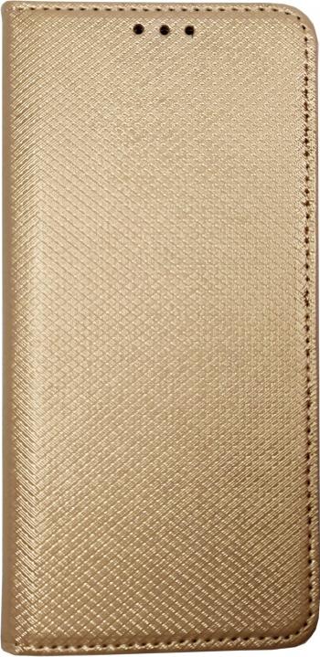 Husa Flip Carte Samsung Galaxy A41 Magnetica cu stand si Suport Card Antisoc Viceversa Auriu