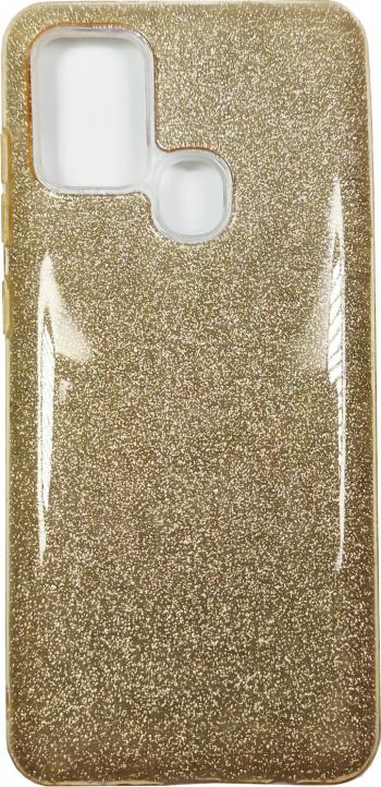 Husa Samsung Galaxy A21s model Crystal Glitter Antisoc Viceversa Auriu Huse Telefoane