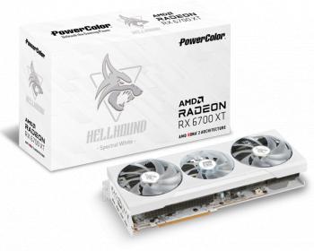 Placa video PowerColor Radeon RX 6700 XT Hellhound Spectral White 12GB GDDR6 192-bit