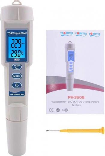 Tester profesional calitate apa PH/TDS/EC/Temp 4 in 1 OWAY OW-3508 multi-meter pentru lichide
