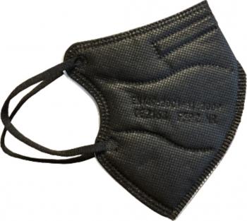 Set 10 masti de protectie pentru copii FFP2/KN95 calitate premium ambalate individual din 5 straturi CE 2163 BFE95 culoare negru