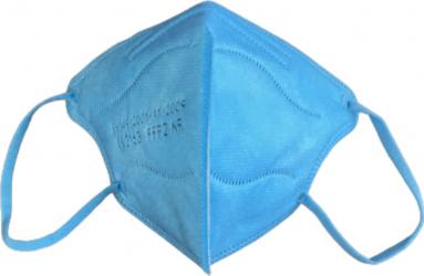 Set 10 masti de protectie pentru copii FFP2/KN95 calitate premium ambalate individual din 5 straturi CE 2163 BFE95 culoare albastru