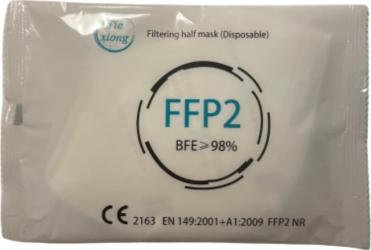 Set 20 de masti de protectie medicala FFP2/KN95 tip IIR CE 2163 BFE98 culoare alb