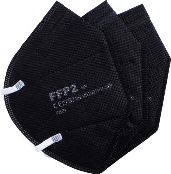 Set 3 masti de protectie calitate premium ambalate individual standard FFP2/KN95 din 5 straturi CE 2797 BFE95 culoare negru