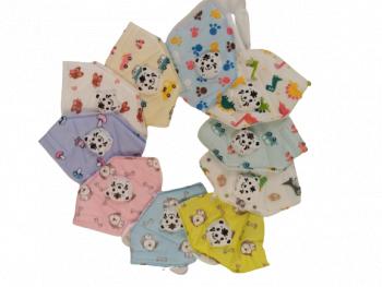 Set de 500 de masti faciale pentru copii cu 5 straturi si supapa ambalate individual model diferite