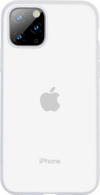 Husa Baseus Liquid Silica Gel Protective pentru iPhone 11 Pro Max Clear White Huse Telefoane