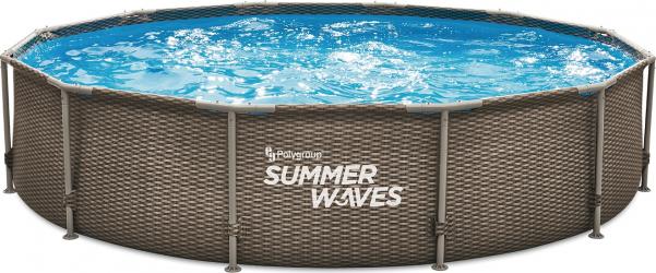 Piscina cadru metalic Summer Waves 366x76 cm 7.000 litri cu pompa de filtrare