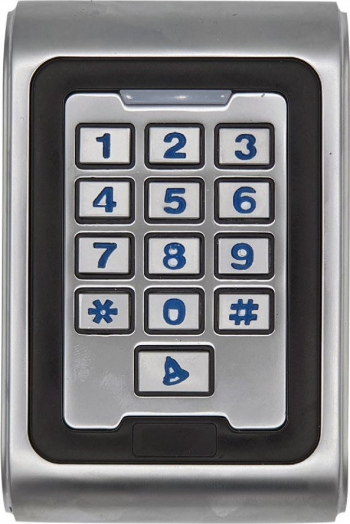 Unitate control acces din metal E-LOCKS standalone si Wiegand anti vandalism cu tastatura si cititor RFID