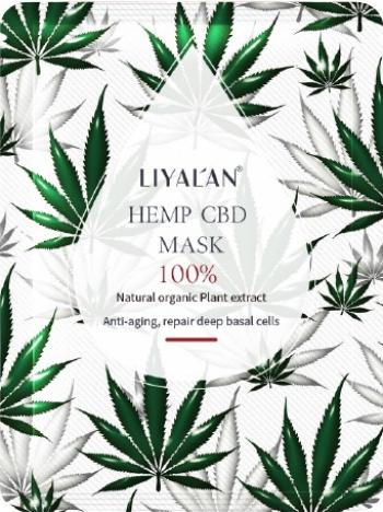 Masca hidratanta tip servetel cu extract de canepa LIYALAN Pentru toate tipurile de ten 25ml Masti, exfoliant, tonice