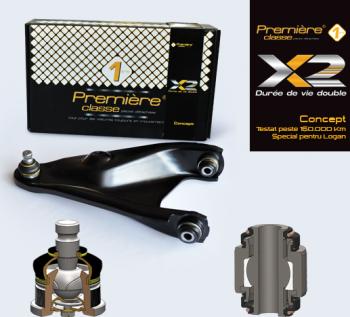 brat suspensie dreapta LOGAN SANDERO-Premiere X Concept testat peste 150000 km