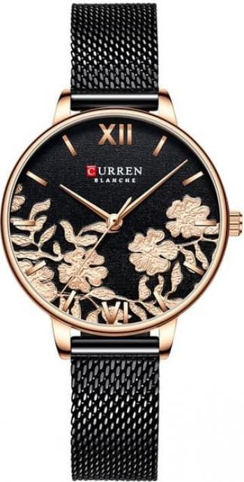 Ceas de mana pentru femei Curren Quartz Negru/Auriu Analog Elegant