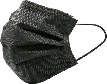 Set 50 buc. masca faciala de unica folosinta 3 straturi neagra Masti chirurgicale si reutilizabile